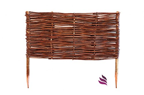 beeteinfassung system 10 x profil 10cm hoch palisade rasenkante natur weidenzaun impr gniert. Black Bedroom Furniture Sets. Home Design Ideas