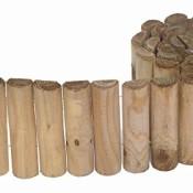 Siena Garden Beetrolli Siloux, Beetumrandung, Rasenkante, Beeteinfassung, 1,8 m, 20 cm hoch, Ø Holz: 25 mm, kesseldruckimprägniert, Kiefer