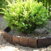2,5 Meter 10 Stück Gartenpalisade Beetumrandung braun Stein Design retro Look