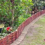 Beeteinfassung System 10 x Profil (10cm hoch) Palisade Rasenkante Natur Weidenzaun - imprägniert, Länge:100cm